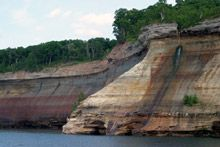 Pictured Rocks National Lakeshore, Lake Superior, Upper Peninsula, Michigan