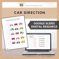 This digitally interactive resource is designed for use with Google Slides. This resource contains 10 slides in total. Answer sheets are included.The student must find the car that is driving/facing the same direction as the arrow, and drag the red circle to highlight the correct answer.