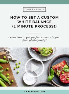 Learn how to set a custom white balance which will allow you to create incredible food photos with stunning, true to life colours, every single time. Great for anyone learning about food photography - and will help you get beautiful food photos! Best Food Photography, Learn Photography, Photography Editing, Photography Business, Digital Photography, Travel Photography, Food Safety Tips, Food Hacks, Food Tips