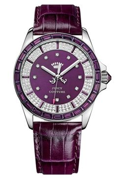 Juicy Couture 'Stella' Crystal Case Watch, 40mm available at #Nordstrom