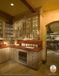 Love the storage in this Butler's Pantry.