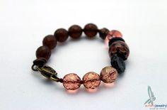 Bronze and Peach  lovely bit autumnal bracelet in by esferajewelry, $32.50 #gift #jewelry #bracelet #autumn