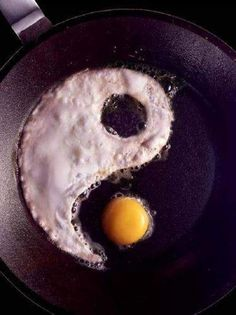 How do like your eggs in the morning? Yin Yang