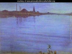 Nocturne In Blue And Silver 1871 2 - James Abbott McNeill Whistler - www.jamesabbottmcneillwhistler.org