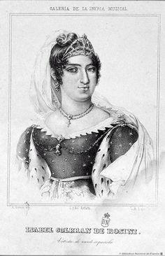 MusiCádiz 1812 - Ilustración - Retrato de Isabel Colbrand, por Juan Antonio López