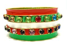 2014 Brasil World Cup Wrist Fashion Female Bracelets and Bangles.Italy Flag Symbolic Fashion Jewelry. Green White Red Mix Set $5.00