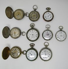 Lot of 10 pocket watches, late Century Movement: Manual winding 6 in silver 4 in metal All of them in running order, but they require a revision. Sizes between and Man Pocket Watches, Manual, Running, Silver, Accessories, Art Auction, Money, Keep Running, Why I Run