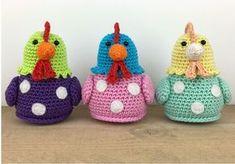 Stip & HAAK - Kipje Kitty - free crochet chicken pattern in English and Dutch. Crochet Diy, Crochet Vintage, Crochet Patterns Amigurumi, Amigurumi Doll, Crochet Dolls, Vintage Knitting, Double Knitting Patterns, Animal Knitting Patterns, Easter Crochet Patterns