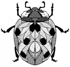 andreas preis illustrator for landyachtz longboards 01 in Graphic Art Project Grow by Andreas Preis Stained Glass Patterns, Mosaic Patterns, Minibeast Art, Lady Bug Tattoo, Insect Tattoo, Andreas, Animal Sketches, Beautiful Drawings, Stuffed Animal Patterns