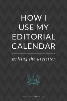 Here's how I set up, maintain and use my editorial calendar for The Useletter. Per request. I hope it's helpful!