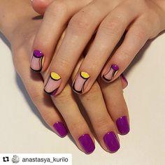 Fashion shellac nails, Festive nails, Interesting nails, mix match nails, Moon on the nails, Nails trends 2017, New ideas of nails, Party nails