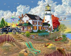 Lighthouse Visitors Jigsaw Puzzle | New Jigsaw Puzzles | Vermont Christmas Co…