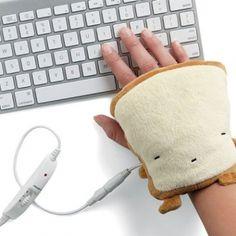 Toast shaped hand warmers to keep you toasty warm!