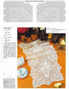 Miria háčky a obrazy: Cesty FILET háčkování tabulce N ° N ° 329