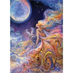 """Masterpieces Jigsaw Puzzle Collectible Tin 1000 Pieces 19.25""""x26.75""""-Josephine Wall-Fly Me To The Moon"""