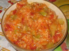 Tocană de legume cu orez pentru iarna! - Retete-Usoare.eu Canning Pickles, Shrimp, Cabbage, Salads, Curry, Chicken, Vegetables, Ethnic Recipes, Food