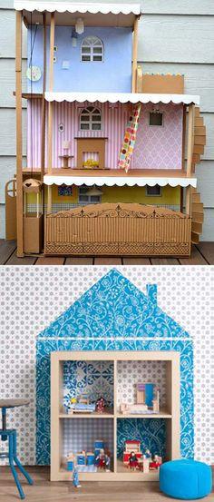 pepperpot.cz - vše o krásných věcech pro děti, miminka a náctileté a kreativním životě s nimi: Inspirace na výrobu domečku pro panenky
