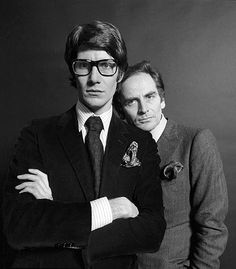 Yves Saint Laurent and Pierre Cardin