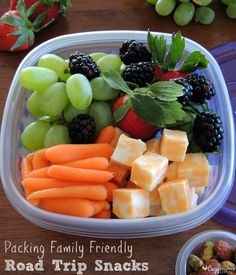 family road trip snack ideas
