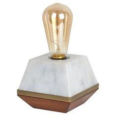 Edison Bulb Marble Lamp (Includes CFL Bulb) - Threshold™