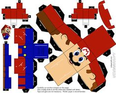 Brinquedos de Papel em 3D Para Imprimir e Montar (Personagens)