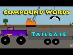 Learn compound words with monster trucks, cranes, big trucks and helicopters video for kids.