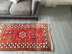 Turkish geometric rug  Devin by AnnieAnnieVintage on Etsy