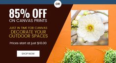 85% Off On #Canvas #Prints Just In Time For Canvas Personalized Outdoor Canvas!  Prices start at just C$10.00    Offer Valid till 22th April 2016 No Coupon code required  For more details :- http://www.canvaschamp.ca