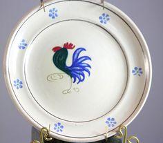 Nicola Fasano Italian Pottery  Rooster Plate