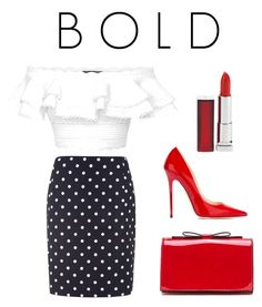 """BOLD"" by nafila-winardi on Polyvore featuring Alexander McQueen, Jimmy Choo and Maybelline"