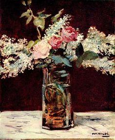 Flieder und Rosen - Edouard Manet