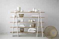 ladder shelf with tv between!