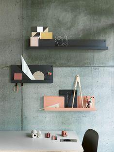 Folded Hylly S, Harmaa - Muuto @ Metal Shelves, Wall Shelves, Shelving, Wall Storage, Nursery Shelves, Mounted Shelves, Floating Shelves, Muuto Lighting, String Regal
