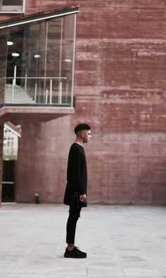 Look masculino all black clothes street style men fashion