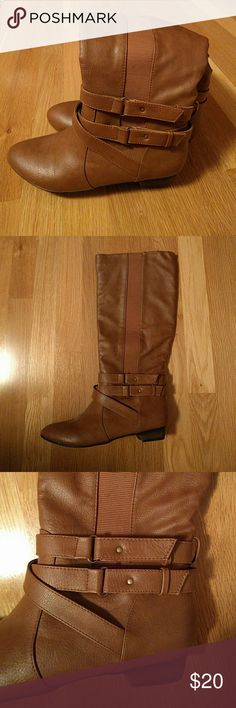 Brown Winter Boots Brown boots  Too small, I'm a size 7 and these feel tight.  Great condition! No holes, stains or tears!  No trade Make me an offer! Olsenboye Shoes Winter & Rain Boots