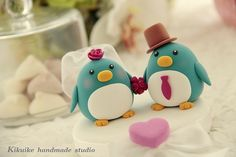 LOVE ANGELS Wedding Cake Topper-love Penguins | Flickr : partage de photos !