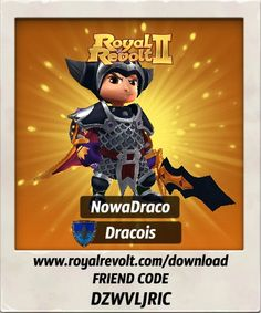 I just got some new gear, check it out!  Download Royal Revolt 2 on your mobile device: www.royalrevolt.com/download    Start the game and get an EPIC reward by entering this friend code: DZWVLJRIC