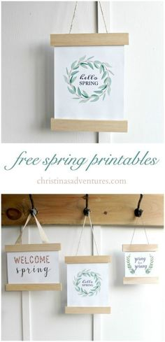DIY spring sign (+ free printables) - these are so cute! They would be a great addition to your farmhouse decor