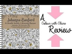 Johanna Basford 16 Month Colouring Planner -  Colour with Claire