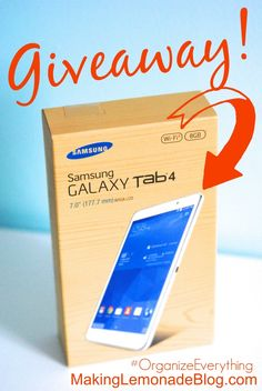 Get organized AND be entered to win a Samsung Galaxy Tab4 in the Organize Everything Challenge giveaway!