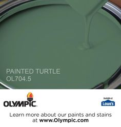 PAINTED TURTLE OL704.5 is a part of the greens collection by Olympic® Paint.