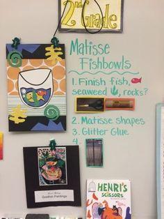 Second grade Henri Matisse fishbowls | Jamestown Elementary Art Blog | Bloglovin'