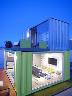 Container House - Shipping Container Homes: How to build a shipping container home, including plans, cool ideas, and more! - Who Else Wants Simple Step-By-Step Plans To Design And Build A Container Home From Scratch? Cargo Container Homes, Shipping Container Home Designs, Building A Container Home, Container House Plans, Container House Design, Shipping Containers, Container Architecture, Modular Homes, Prefab Homes
