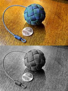 Globe knot key fob  by Stormdrane