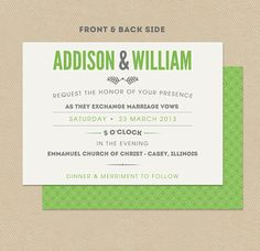 Printable Wedding Invitation Double Sided 5x7 by seedtosprout, $19.50