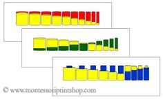 Knobless Cylinder Comparison Cards - Printable Montessori Sensorial Materials for Montessori Learning at home and school.