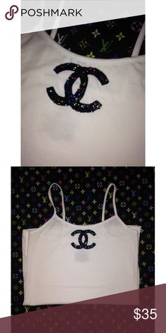 CHANEL SHIRT CUSTOM MADE PLUS SIZE CHANEL TANK TOP✨ available in different colors✨ feel free to ask any questions CHANEL Tops