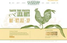 Farmer's Market Website. Well done. Could just be a landing page, too! #farmersmarket #webdesign