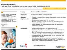 Reprico, ein Distributor von pharmazeutischen Produkten mit Sitz in Panama (240 Beschäftigten davon 98 SAP Business One User) hat erfolgreich SAP Business One HANA im Einsatz.