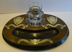 Magnificent Antique English Inkstand / Inkwell c.1870 #Victorian